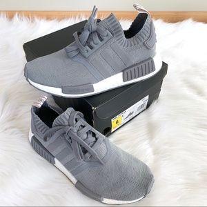 RARE Adidas NMD R1 Primeknit Grey Sneakers